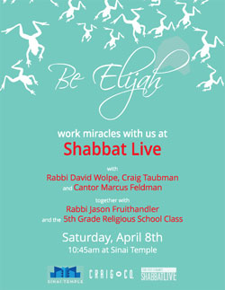 Shabbat Live at Sinai Temple
