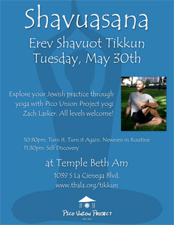 Shavuasana Yoga at Temple Beth Am